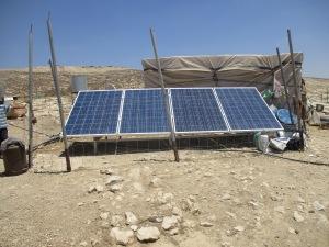 Solar panels in Susiya